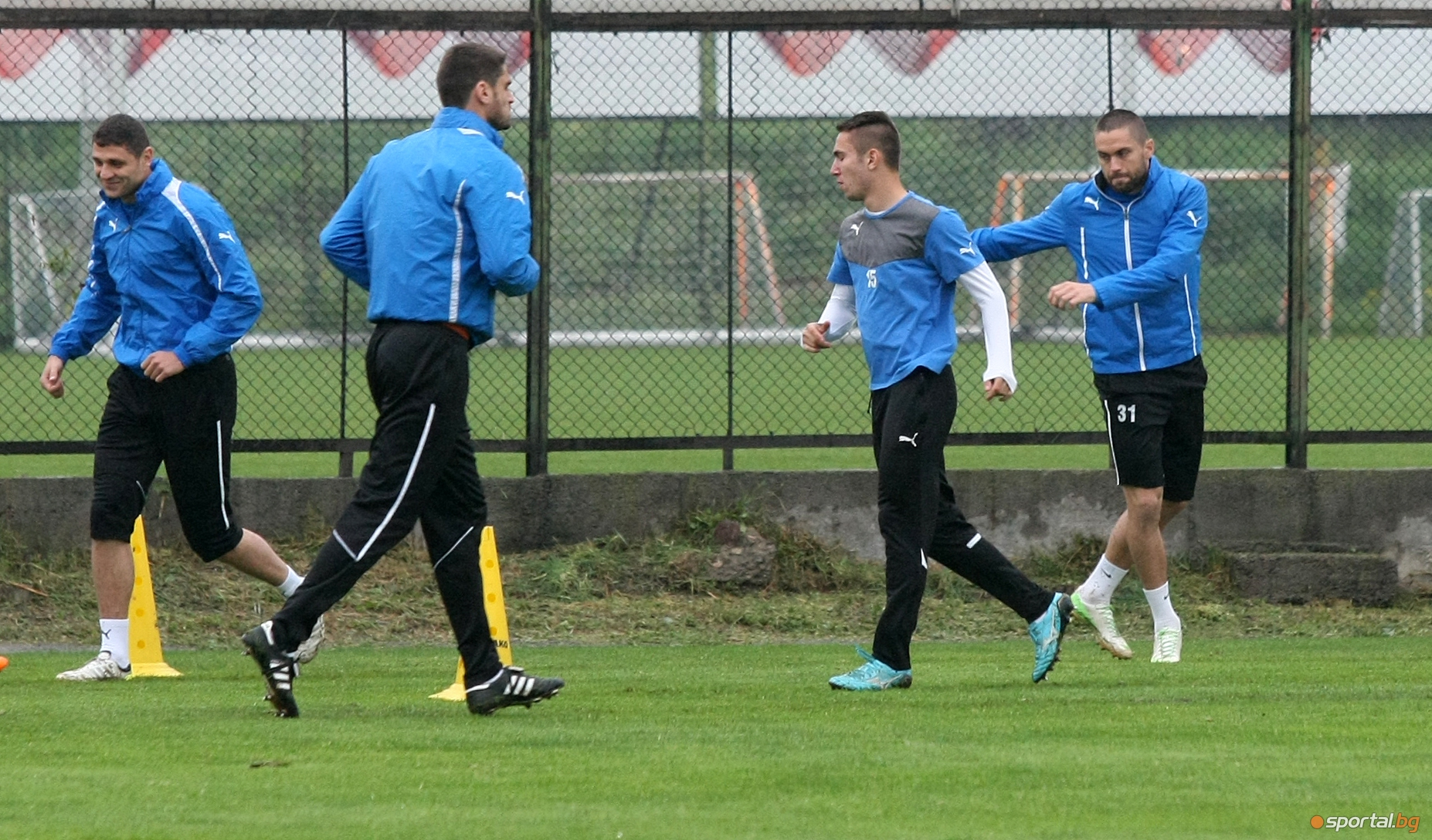 Футболистите на Левски проведоха редовната си тренировка