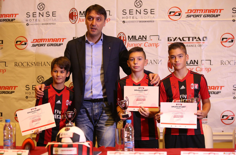 Наградиха победителите от Milan Junior Camp