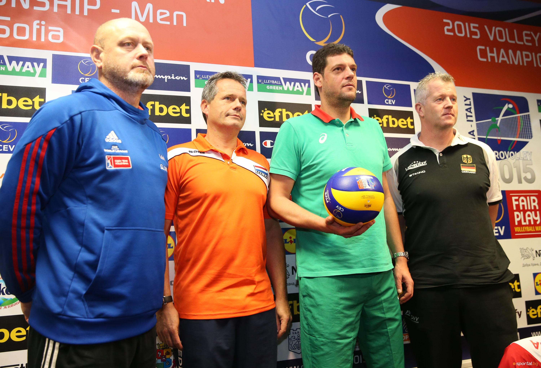 "Пресконференция на треньорите в група ""А"" на Евро Волей 2015"