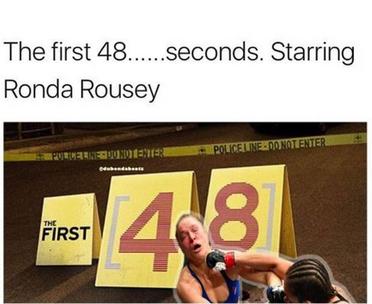 Шегите с Ронда Раузи не закъсняха