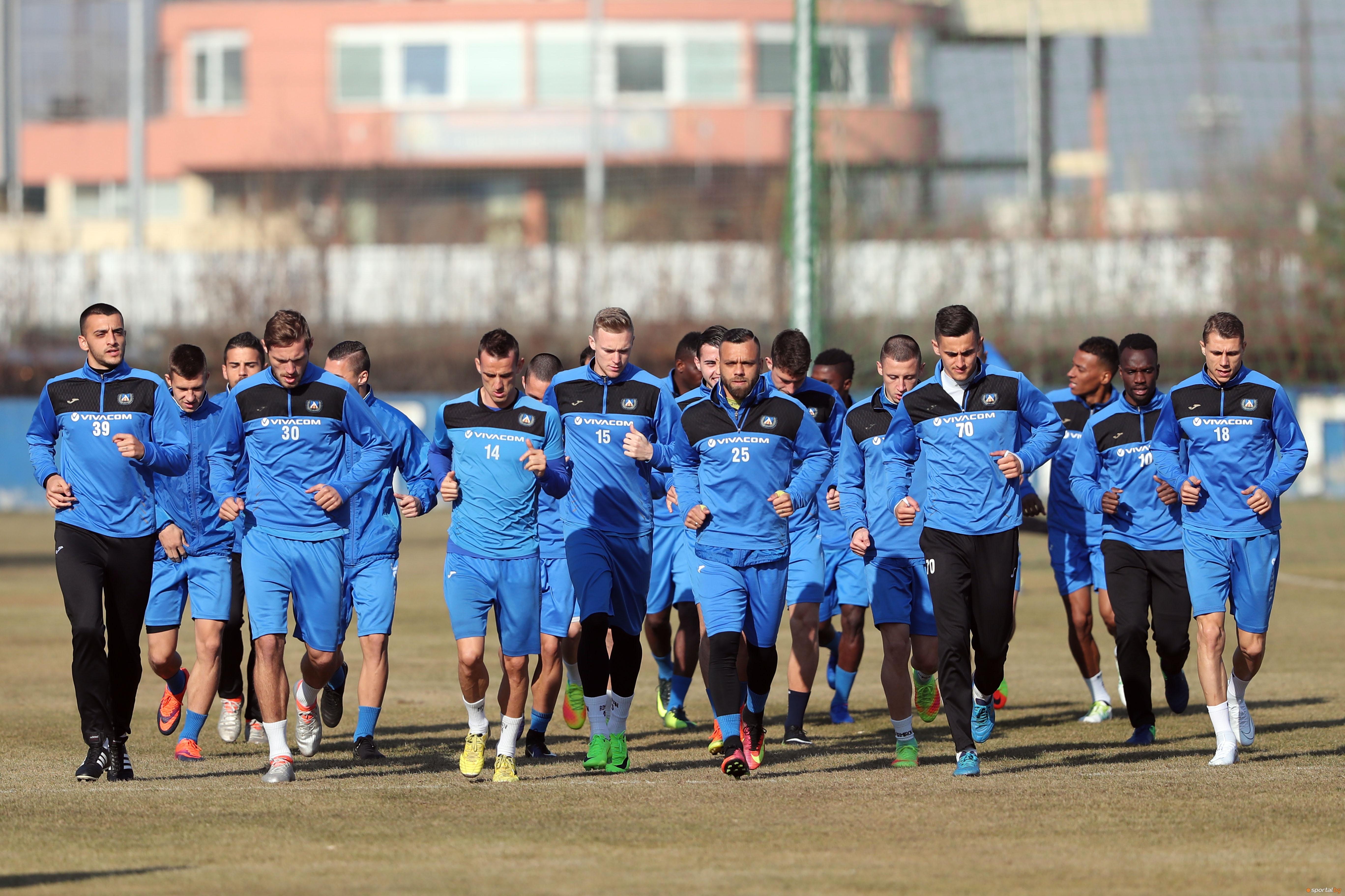 Последна тренировка на Левски преди гостуването в Благоевград