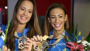 Златните момичета се прибраха в България