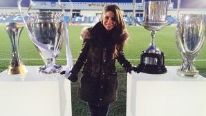 Спряганата за приятелка на Роналдо тв журналистка Лусия