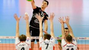 Силен Цецо Соколов с 18 точки! Халкбанк даде гейм на Белогорие в плейофите на Шампионската лига