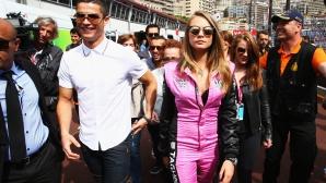 Кристиано Роналдо гледа Гран при в приятна компания