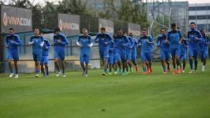 Футболистите на Левски с вечерна тренировка