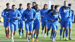 Левски тренират преди мача с Черно море