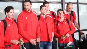 Националите по волейбол се прибраха след турнира в Краков