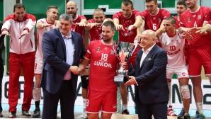 Нефтохимик Бургас са носители на суперкупата на България по волейбол