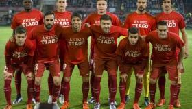 Футболистите на Атлетико Мадрид излязоха с фланелки в подкрепа на контузения си съотборник Тиаго Мендеш