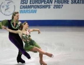Албена и Максим трети след задължителния танц на Европейското първенство във Варјава