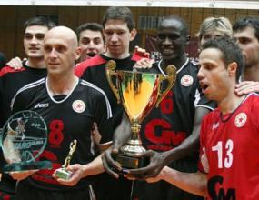 Волейболистите на ЦСКА отбор №1 на месец април
