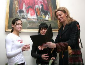 Стефка Костадинова делегат на съюза на глухите