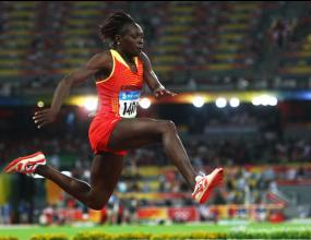 Камерунка взе златото в тройния скок с уникален скок от 15.39 м