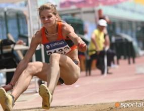 Страхотна Бънова с титлата в тройния скок, девойка подобри личния си рекорд с 61 см и се класира за СП