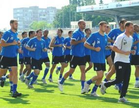 Черноморец с последна тренировка преди заминаването за София