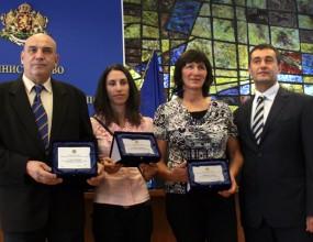 Донкова, Димитров и Стамболова с награди от министър Нейков