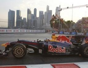 Фетел изпревари всички във втората тренировка в Сингапур