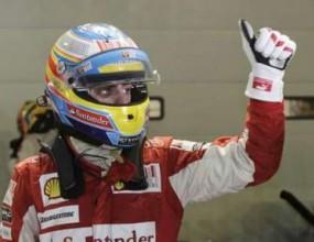 Алонсо победи Ред Бул и стартира първи под прожекторите в Сингапур
