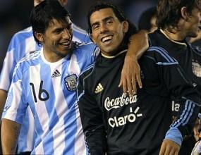 Тевес и Агуеро аут за Бразилия