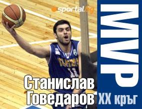 Станислав Говедаров - MVP на XX кръг на НБЛ