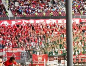 1000 фенове на ЦСКА превзеха стадиона в Клуж