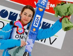 Сара Хендриксън спечели първата световна купа по ски-скок