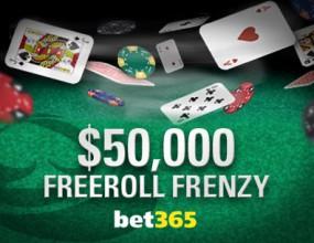 Играйте в безплатни турнири за $50,000 в Bet 365