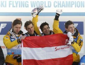 Австрия триумфира на Световната купа по ски-скокове