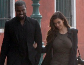 Кание Уест заведе Ким във Венеция
