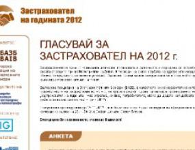 Днес последно гласуваме за застраховател на 2012 г.