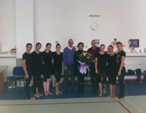 Специална визита на генералния спонсор на художествената гимнастика в България