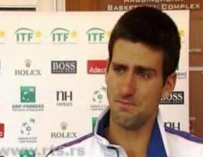 Джокович се разплака по време на интервю (видео)