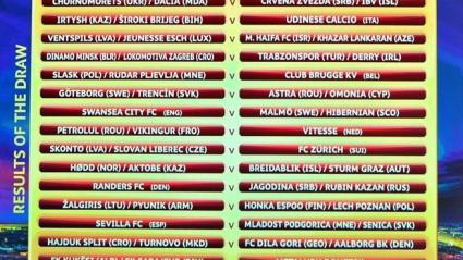 Пълният жребий за третия кръг в Лига Европа