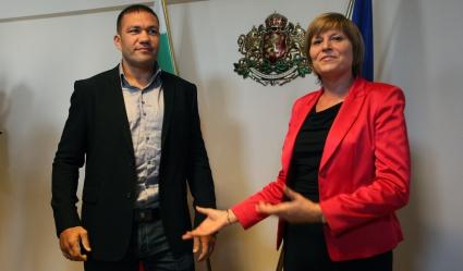 Лична среща на министър Мариана Георгиева с Кубрат Пулев