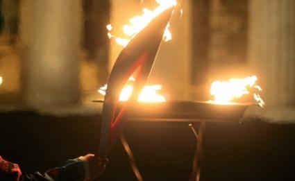 Щафетата с олимпийския огън за Сочи-2014 финишира