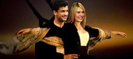 """Григор и Шарапова като героите от """"Титаник"""""""