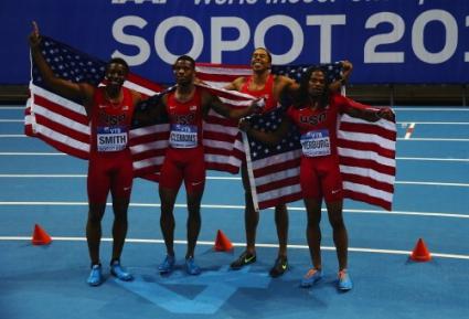 Мъжката щафета на САЩ спечели титлата на 4 по 400 метра с нов световен рекорд
