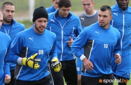 Левски тренира без трима основни играчи, които са под въпрос за Вечното дерби (ГАЛЕРИЯ)