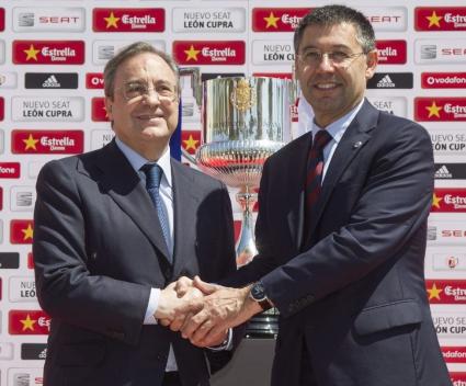 Босовете на Реал Мадрид и Барса си стиснаха ръцете преди финала