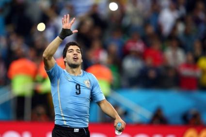 Луис Суарес e играч на мача Уругвай - Англия