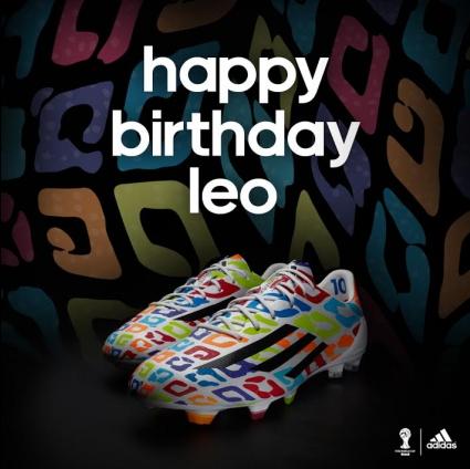 Adidas представя специални бутонки за рождения ден на Лео Меси