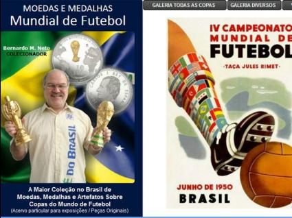 Бразилски нумизмат с огромна колекция, посветена на световните първенства