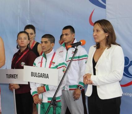 Министър Раданова откри европейското по бокс