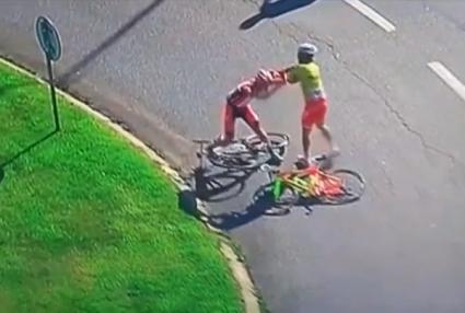 Колоездачи се сбиха в Португалия (видео)