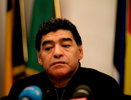 Марадона шамароса журналист (видео)
