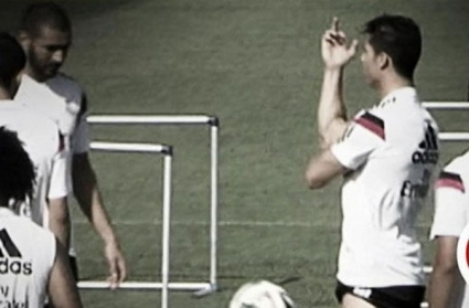 Кристиано размахва средни пръсти на тренировка (видео)
