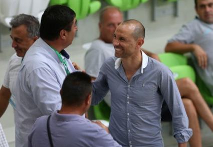 Мартин Петров гледа волейболистите в Ботевград (ВИДЕО)