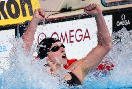 Ледецки подобри световния рекорд в плуването на 400 метра свободен стил