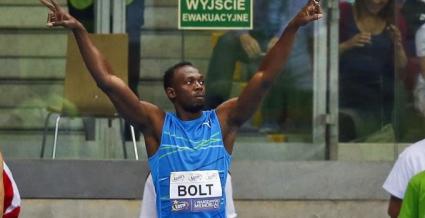 Юсейн Болт с най-добро време на 100 метра на закрито във Варшава